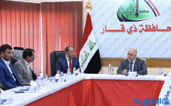 العبادي يؤكد من الناصرية على عدم دستورية استفتاء اقليم كردستان