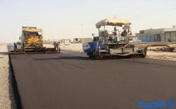 المباشرة باكساء طريق معمل القابلوات في الناصرية بطول ثلاثة كيلومترات