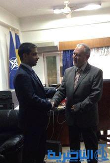 رئيس مجلس محافظة ذي قار يبحث مع السفير الروماني في العراق سبل التعاون المشترك