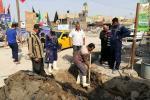مركز ماء الناصرية : اعمال صيانة الشامية الثانية ليوم الثلاثاء الموافق 2017/10/24