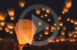 مهرجان الفوانيس الطائرة في تايوان (فيديو)
