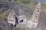 لقطات مذهلة للكاتدرائية الوحيدة الناجية من بركان باريكوتين بالمكسيك لـ70 عاما خلت (فيديو)