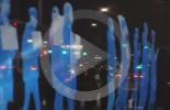 احتجاجات في سيئول باستخدام أحدث التقنيات الضوئية والبصرية