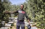 """بالفيديو.. أبو روك أو """"صديق النحل"""" يغطي ذراعه بالنحل سعيا لتحقيق رقم قياسي"""